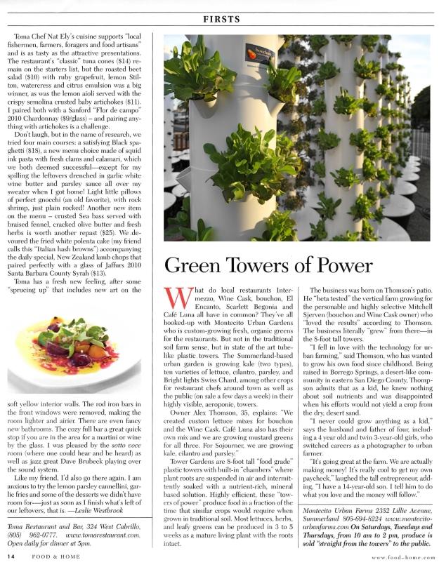 Food And Home Santa Barbara article